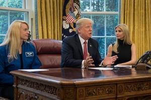 astronauts teach trump about the space bill he already signed