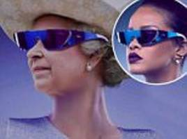 rihanna photoshops queen onto her face amid backlash
