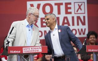khan backs corbyn to be the next prime minister