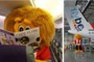 Exeter City mascot Grecian the Lion in flying trip to raise...