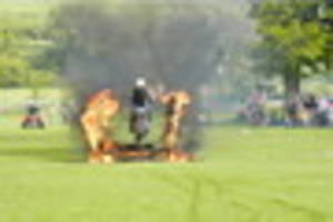 durweston fair with performance by royal signals white helmets