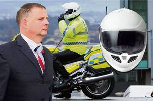 traffic cop headbutted woman driver while wearing a crash helmet in road rage attack