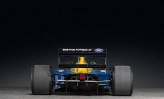 1991 benetton formula 1 car heading to auction