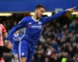 Hazard posts Premier League best return for Chelsea