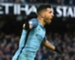 'best in the premier league' aguero leads neville's man city xi of the modern era