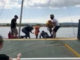 Former England striker rescued two children from yacht