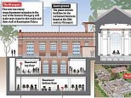 kensington palace's £24million basement plans slammed