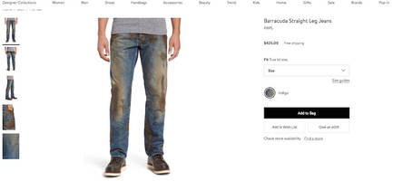 for just $425, these jeans covered with fake mud can be yours