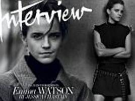 emma watson covers the may issue of interview magazine