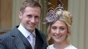 olympic cyclists laura and jason kenny collect cbes