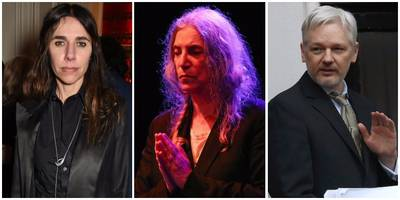 "pj harvey, patti smith, brian eno, more to speak at ""free julian assange"" events"