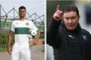 Derek Adams drops a hint about Plymouth Argyle's new kits