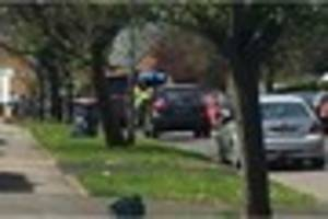 accident in cross heath leaves car on roof