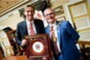 top civic award: so what do peter crouch and desmond tutu have in...