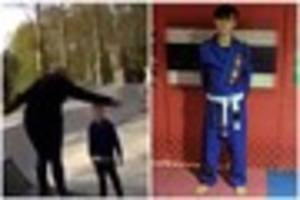 watch: boy, 14, stands up to a bullying dad who tried to punch...