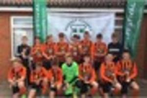 gillingham town youth u13s – league and county cup winners