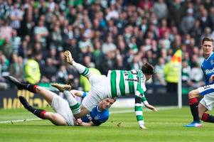Celtic's Patrick Roberts says Scott Brown must be cleared for Rangers rematch after Andy Halliday was booked for Hampden lunge