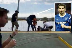 Former Rangers striker James Beattie helps rescue mum and two kids from yacht