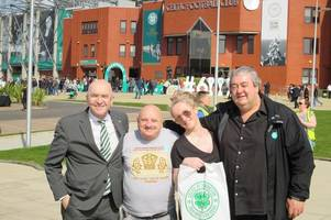 hoopy to help out: match day fundraiser at celtic park boosts loaves and fishes food bank