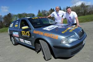 two west lothian men to drive banger to benidorm for charity