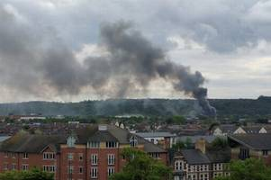 large fire which sent smoke billowing across cardiff was accidental
