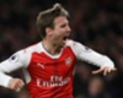arsenal 1 leicester city 0: huth own goal keeps arsenal's top four hopes alive
