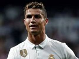 Cristiano Ronaldo out of Real Madrid squad for Deportivo