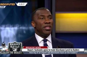 Marshawn Lynch reportedly traded to the Raiders - Shannon Sharpe reacts | UNDISPUTED