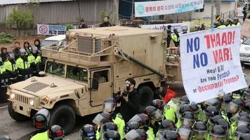 North Korea tensions: US installs missile defence system in S Korea