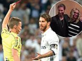 julia roberts in gaffe with real madrid star sergio ramos