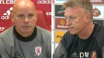 Middlesbrough v Sunderland: Managers look ahead to 'big' Tees-Wear derby