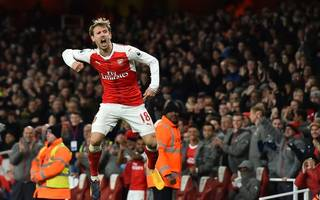 arsenal ride luck as late huth own goal sinks leicester