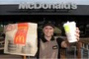 a mcdonald's home delivery service is actually happening and it...