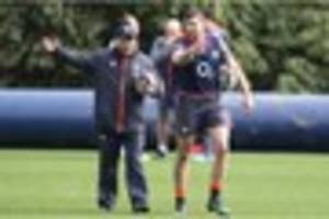 eddie jones pays visit to gloucester training session