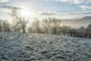 somerset weather: cold snap will see county drop to lows of -3c...