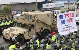 US sets up missile defense in S. Korea as North shows power