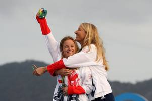 welsh olympic sailor hannah mills receives an mbe at buckingham palace after rio 2016 gold medal