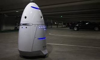 Welcome to the Future: Drunk Guy Beats Up Security Robot In Parking Lot