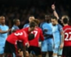Manchester City 0 Manchester United 0: Mourinho's 10 men hold on after Fellaini madness