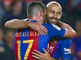 javier mascherano has never hid from anything at barcelona
