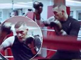 McGregor gears up for Mayweather with explosive session