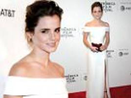 emma watson sizzles in white at the circle premiere in nyc