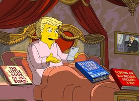 'the simpsons' skewers donald trump's awful first 100 days in office