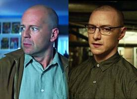 'unbreakable'/'split' sequel 'glass' is announced, bruce willis and james mcavoy will return