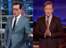 stephen colbert and conan o'brien joke about ivanka trump getting booed in germany