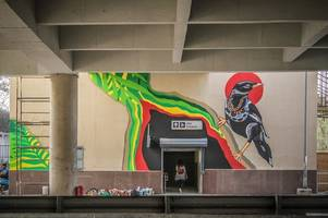 arjan garh metro station's artistic makeover underway with an indo-singapore collaboration