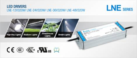deltapsu news - delta extends the constant current/constant voltage lne series of led drivers with 320w output power
