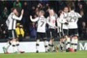 half price food and drink at derby county game at pride park on...
