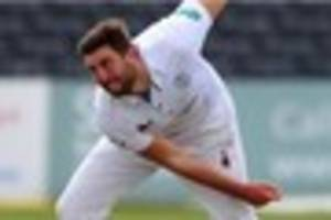 cricket: rain is the winner but spares derbyshire testing run...