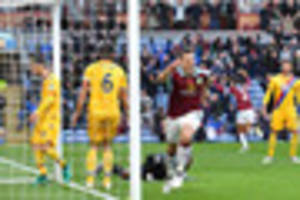 burnley defenders are injury doubts for crystal palace clash but...